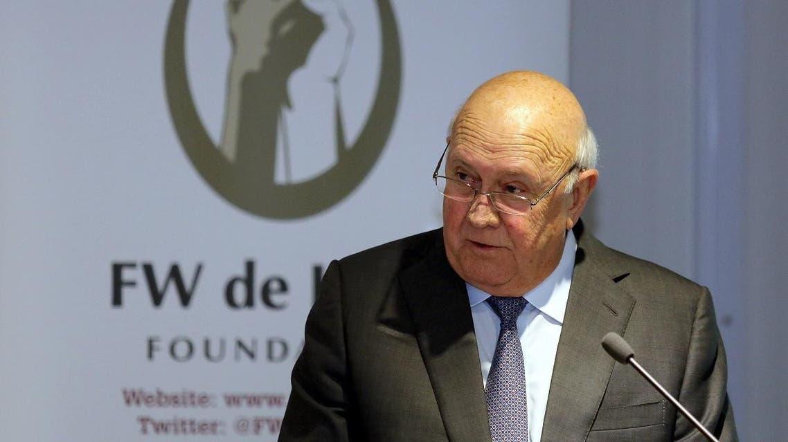 Former South Africa President FW de Klerk (AFP)