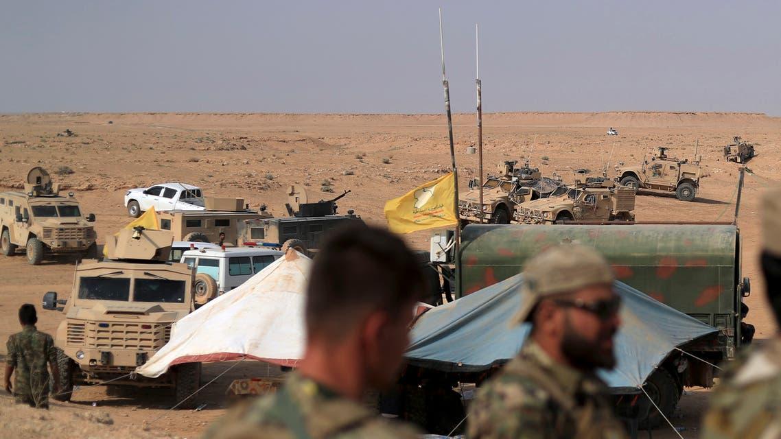 عناصر من قوات سوريا الديمقراطية المدعومة من قبل التحالف الدولي