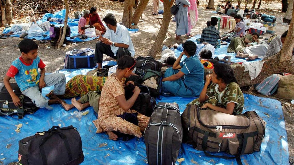 Tamil refugees who arrived from Sri Lanka, rest at Dhanushkodi, about 675 kilometers (421 miles) south of Madras, India. (Reuters)