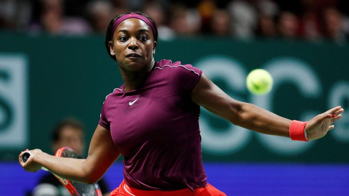 Sloane Stephens of the U.S. in action during the singles final against Ukraine's Elina Svitolina. (Reuters)