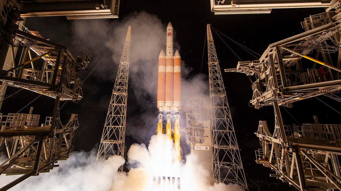 A Delta IV rocket, carrying the Parker Solar Probe, lifts off from launch complex 37 at the Kennedy Space Center, on August 12, 2018, in Cape Canaveral, Florida. (AP)