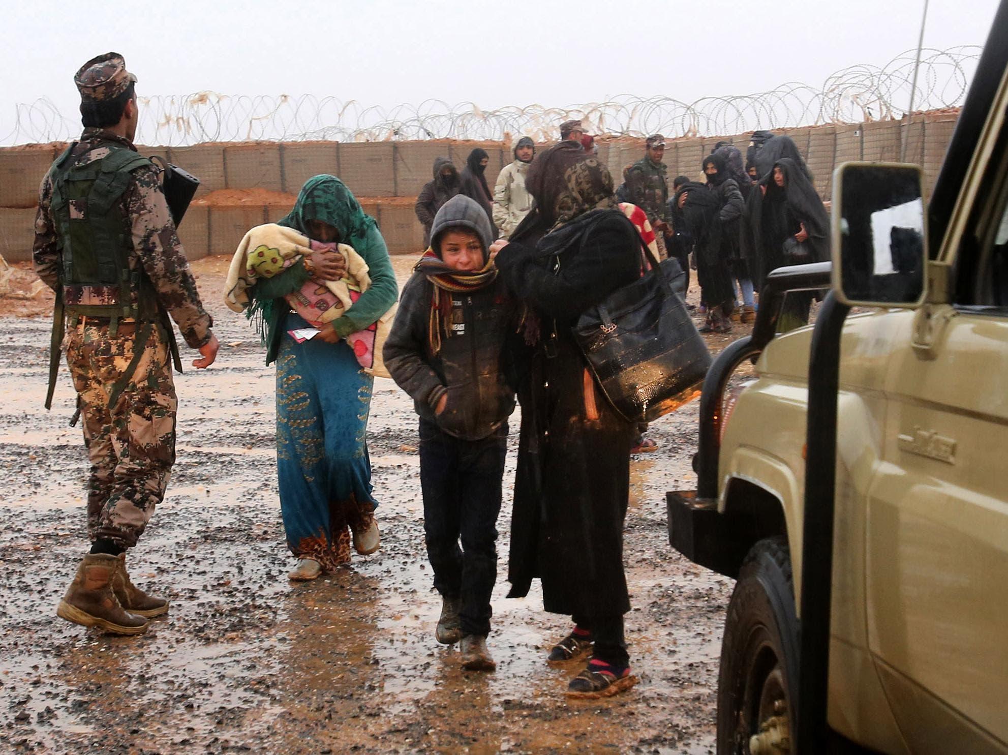 از اردوگاه الرکبان سوریه