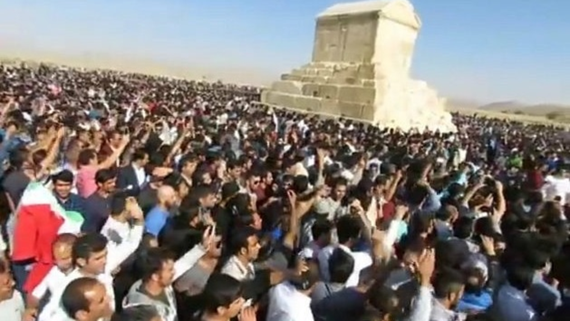 In 2016, tens of thousands of Iranians, from various parts of the nation, gathered at the site of the tomb of King Cyrus the Great in Pasargadae. (Supplied)