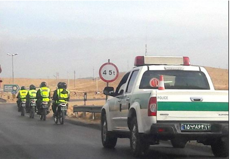 Security forces in Pasargad. (Supplied)