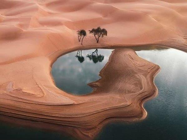 صور مدهشة لبحيرات الربع الخالي التي عادت من جديد