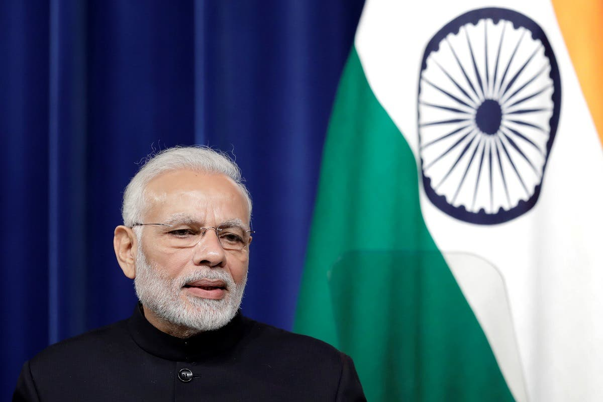 Narendra Modi, India's prime minister, speaks during a joint news conference in Japan. (Reuters)
