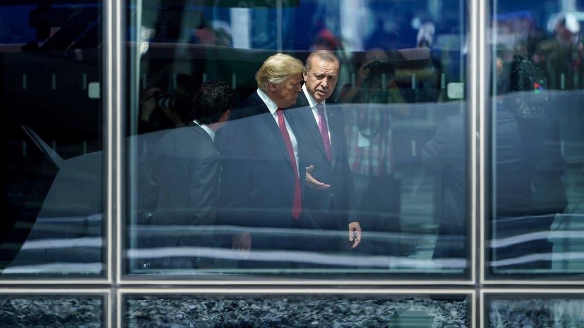 Trump and Erdogan (AFP)