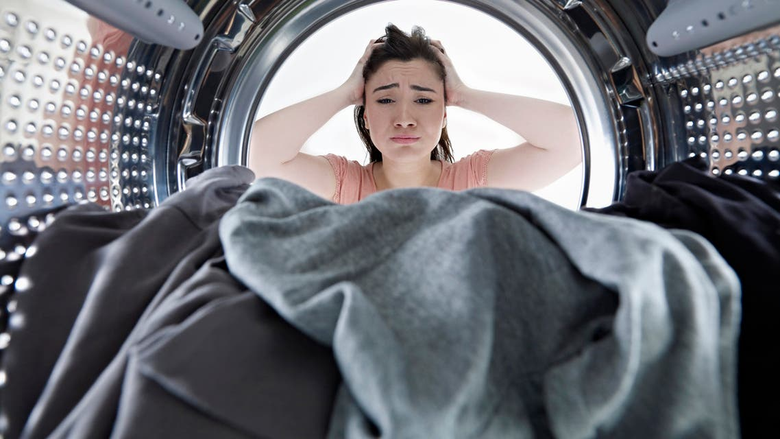 Unhappy housewife - Stock image