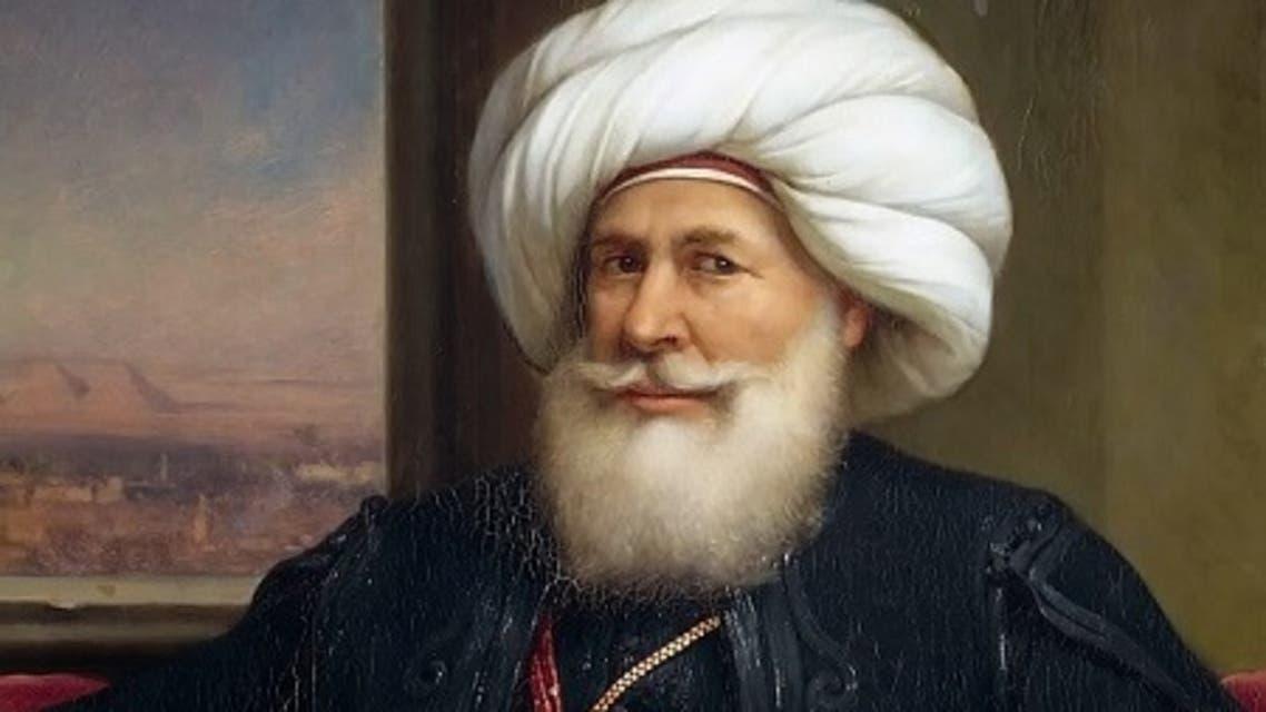 لوحة زيتية تجسد والي مصر محمد علي باشا