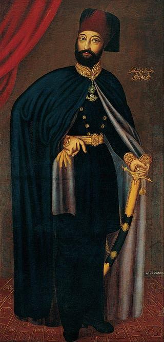 لوحة تجسد السلطان العثماني محمود الثاني