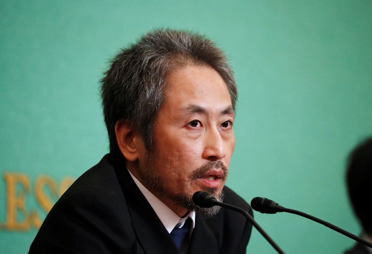 Jumpei Yasuda, the Japanese journalist held in Syria for more than three years, addresses a news conference for the first time since his release last month, at the Japan National Press Club in Tokyo. (Reuters)