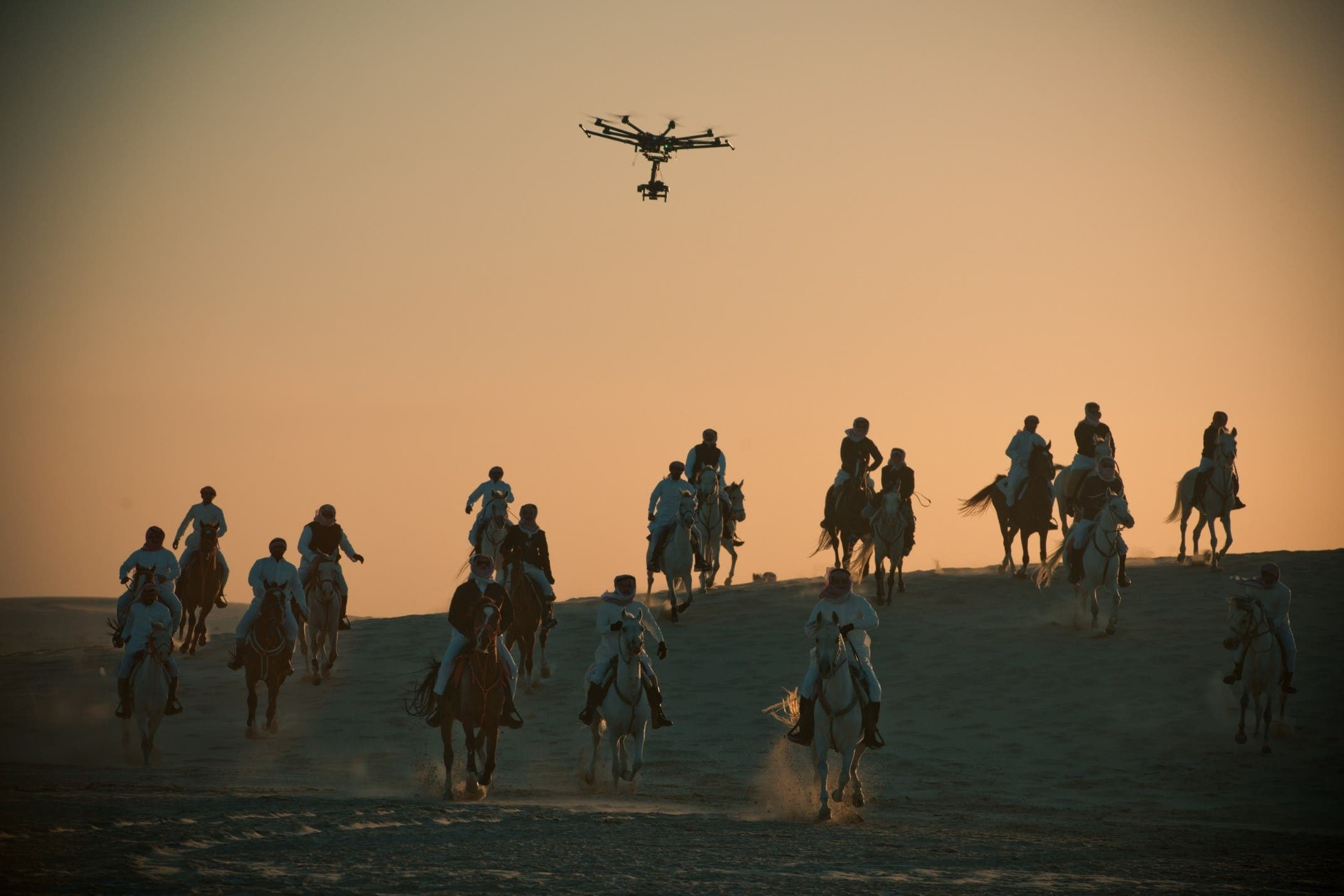 Aerial cinematography is central to JOUD's storytelling (Photo: Fahad Al-Dajani)
