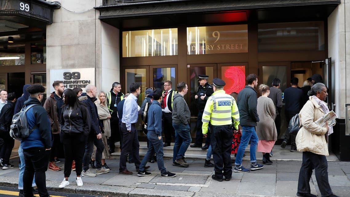 double-stabbing in Sony Music HQ London (AP)