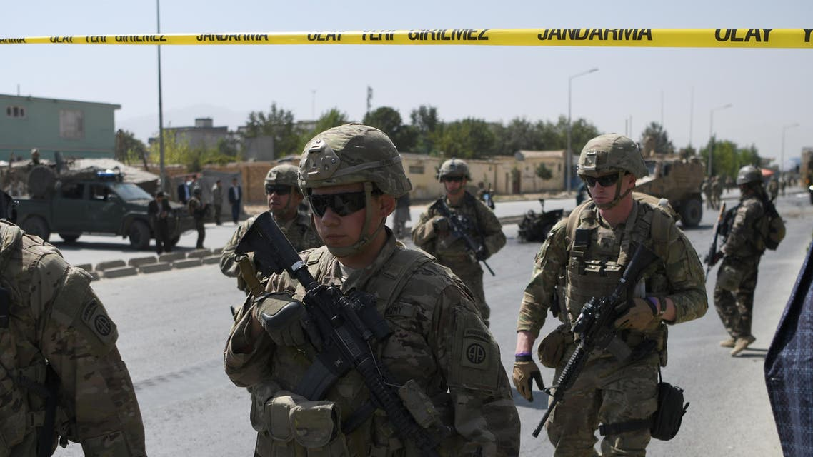 US soldiers arrives at the site of a car bomb attack that targeted a NATO coalition convoy in Kabul on September 24, 2017. (File Photo: AFP)