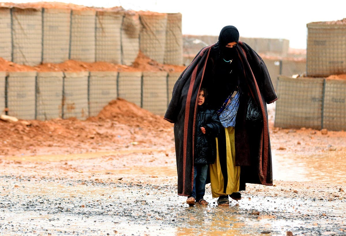 Syrian refugee from the informal Rukban camp (AFP)