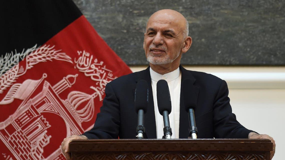 File Photo of Afghanistan President Ashraf Ghani speaks during a news conference. (AFP)