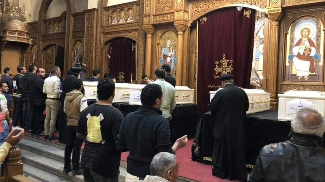 coptic christians bury dead after terrorist attack in Egypt (Supplied)