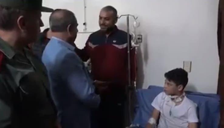 وزير داخلية الأسد في زيارة عاجلة للناجي من عملية الذبح