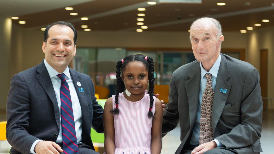 First Pediatric kidney transplant performed on Bana in the UAE. (Photo courtesy: Al Jalila Foundation)