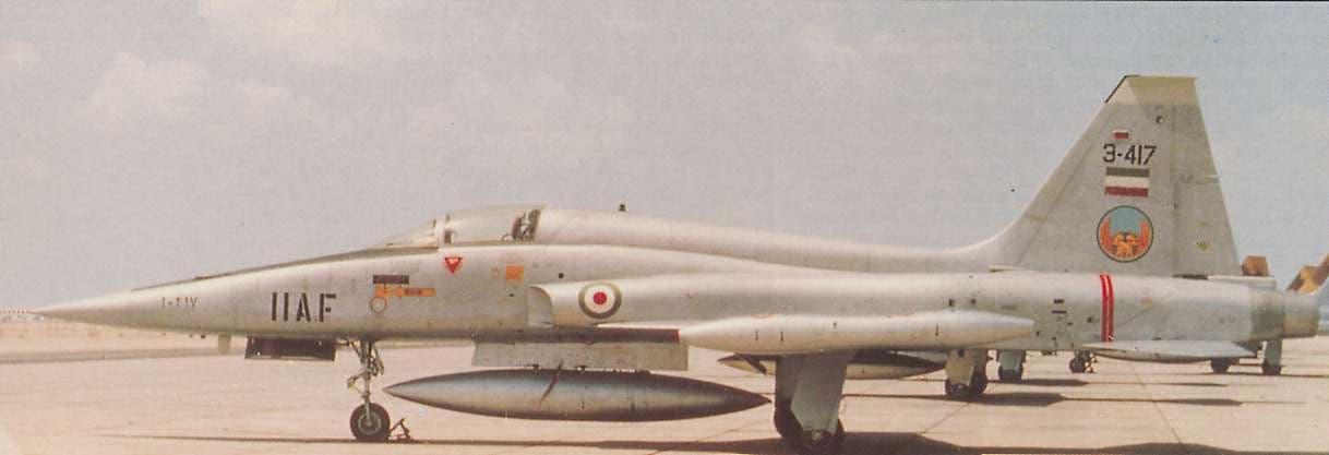 A Força Aérea Imperial do Irã recebeu centenas de F-5 em diversas variantes.