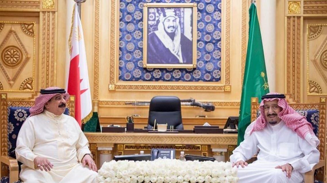 خادم الحرمين وملك البحرين