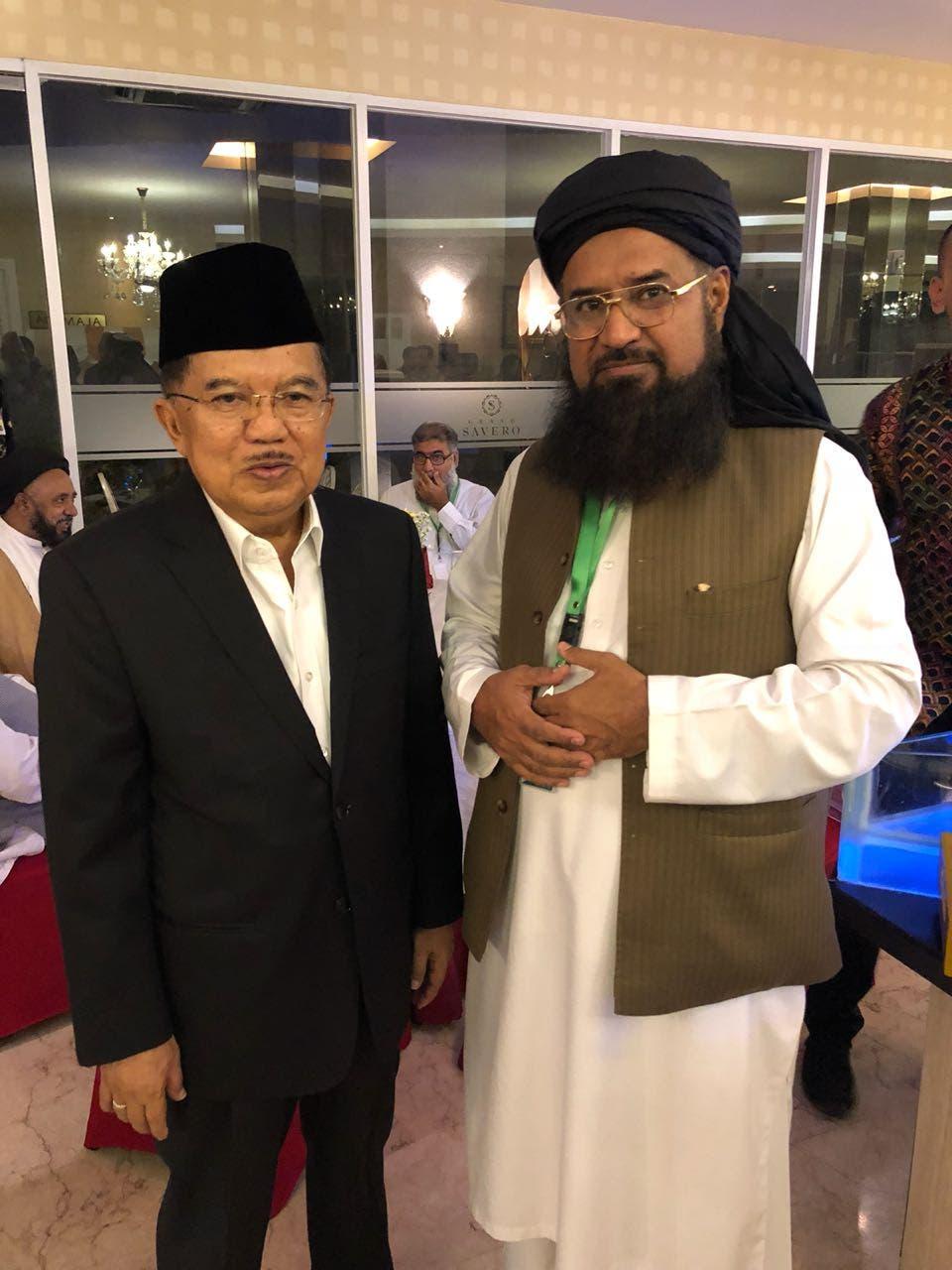 Maulana Fazlur Rehman Khalil with with Mr.Muhammad Jusuf Kalla, vice president of Indonesia. (Supplied)