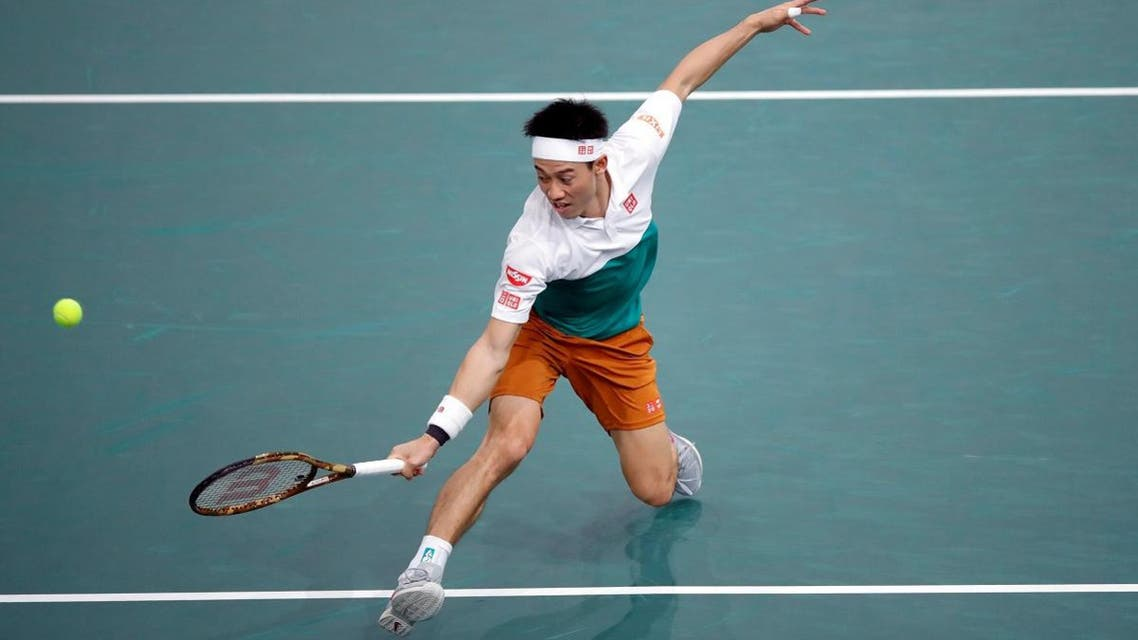 Kei Nishikori in action. (Reuters)