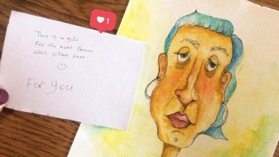Saudi artist leaves portraits as gifts for strangers at this cafe in Riyadh