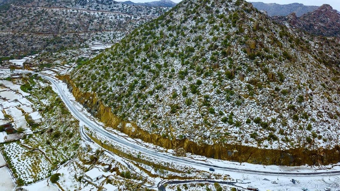 Snow in Maysan governorate, Mecca. (Supplied)