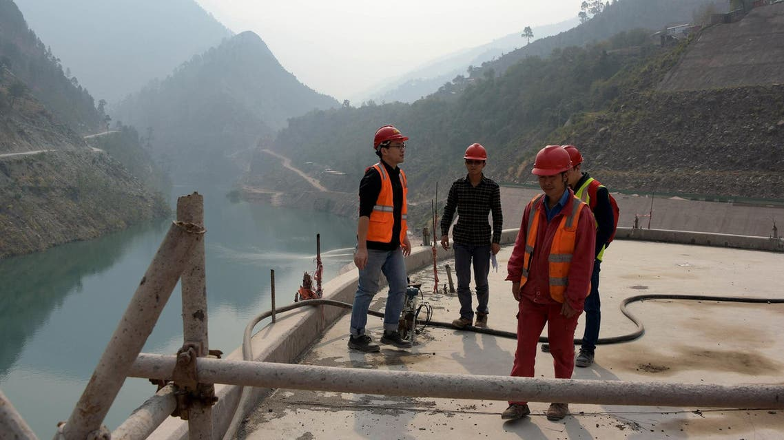 Chinese engineers working on the Neelum-Jhelum Hydropower Project in Nosari, in Pakistan-administered Kashmir's Neelum Valley on October 31, 2017. (AFP)