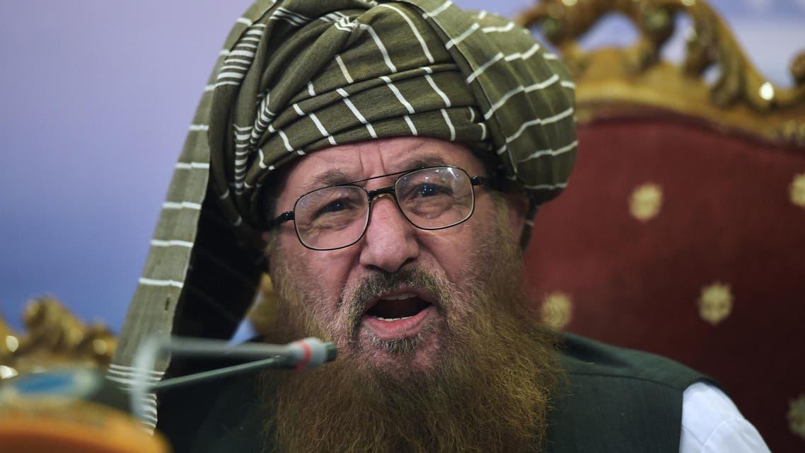 Maulana Sami Ul-Haq addresses a press conference in Islamabad on August 23, 2017. (AFP)