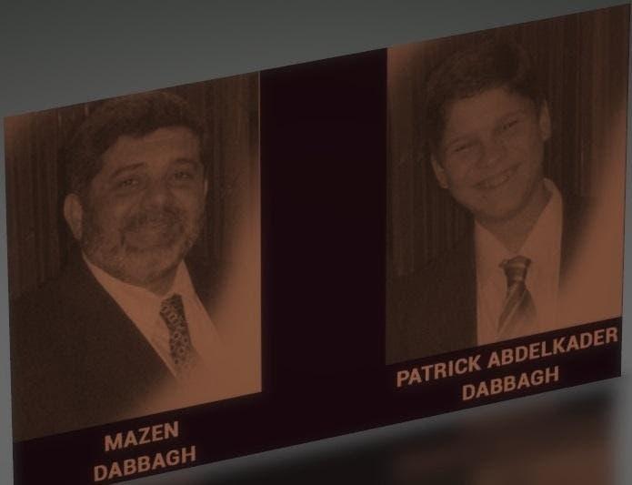 المقتولان تعذيباً في سجون الأسد مازن دباغ وابنه باتريك