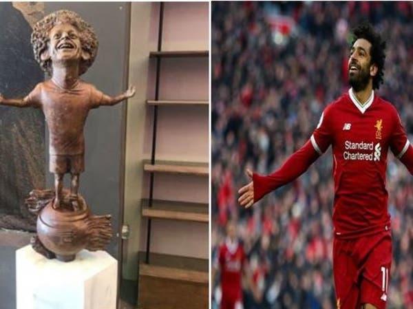 تمثال محمد صلاح يثير سخرية مواقع التواصل.. وصانعته توضح