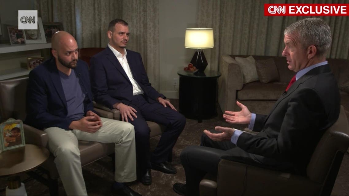 Abdullah and Salah were speaking to CNN in their first media interview following their father's killing in the Saudi consulate in Istanbul on Oct. 2. (Screengrab)