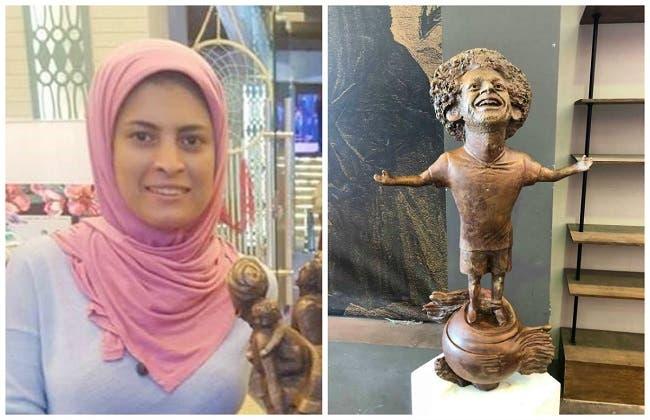 التمثال وصانعته