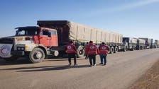 شام کے الرکبان پناہ گزین کیمپ میں کئی ماہ کے بعد امدادی کارکن داخل