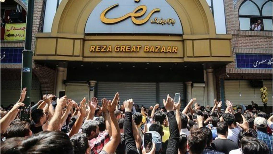 اضراب بازار طهران الشهر الماضي