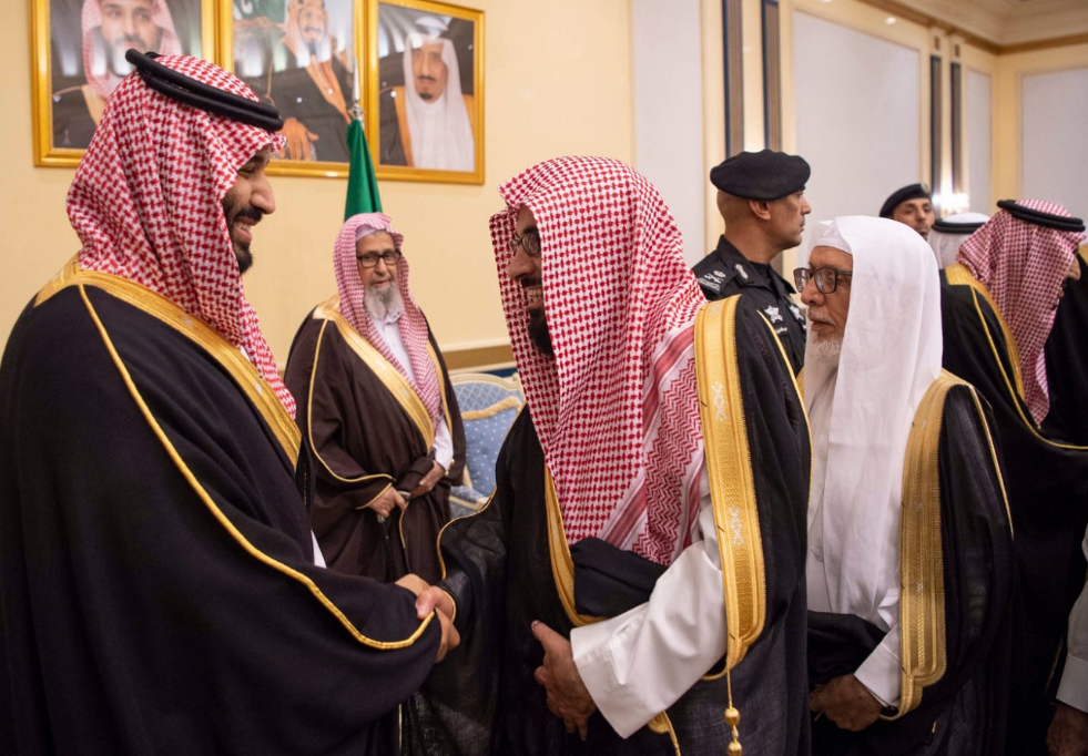 Saudi Crown Prince in Qassim. (SPA)