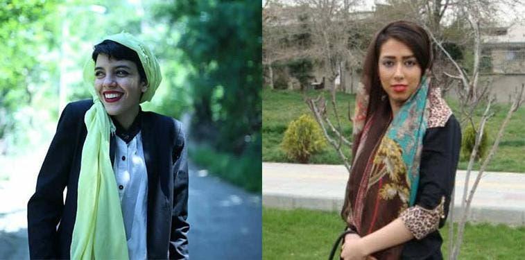 صبا كرد أفشاري (19 عاما) وياسمان آرياني (23 عاما)