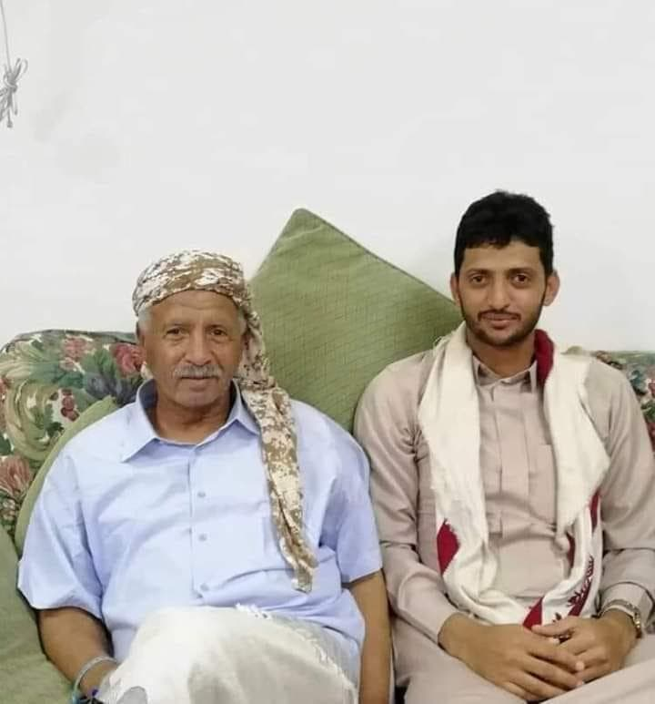 Yemen army officer with one of his sons (Supplied)
