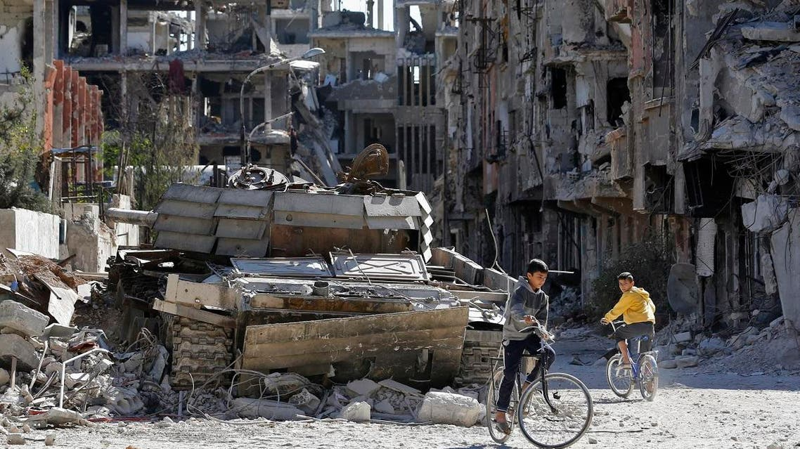 Yarmouk Palestinian rfugees camp in Syria (AFP)