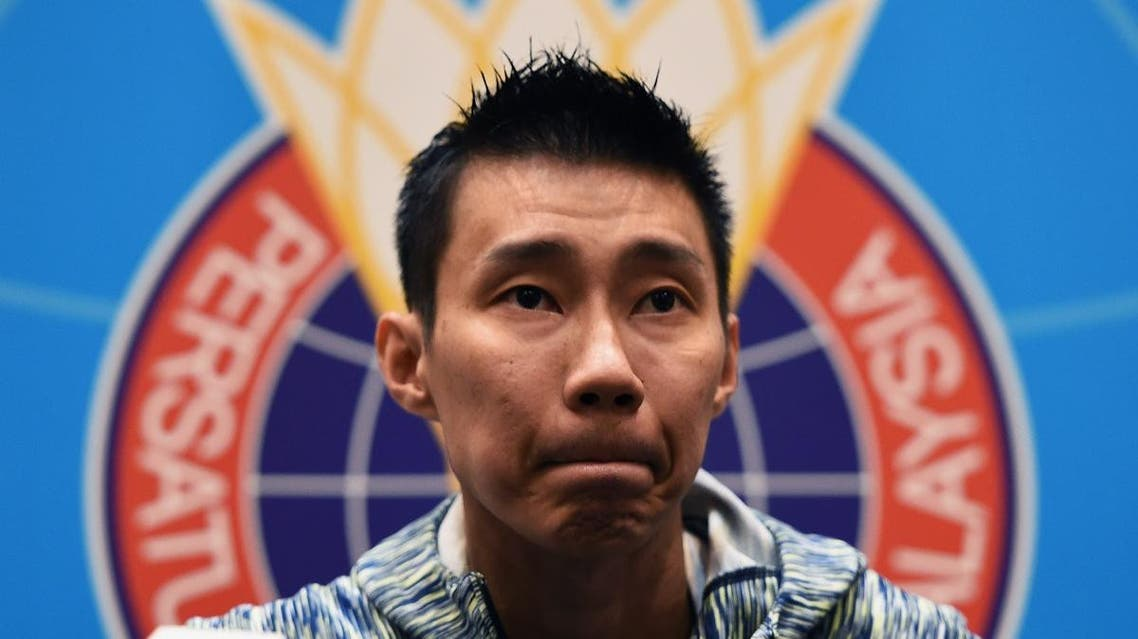 Malaysia's badminton player Lee Chong Wei attends a press conference in Kuala Lumpur on November 8, 2018. (AFP)