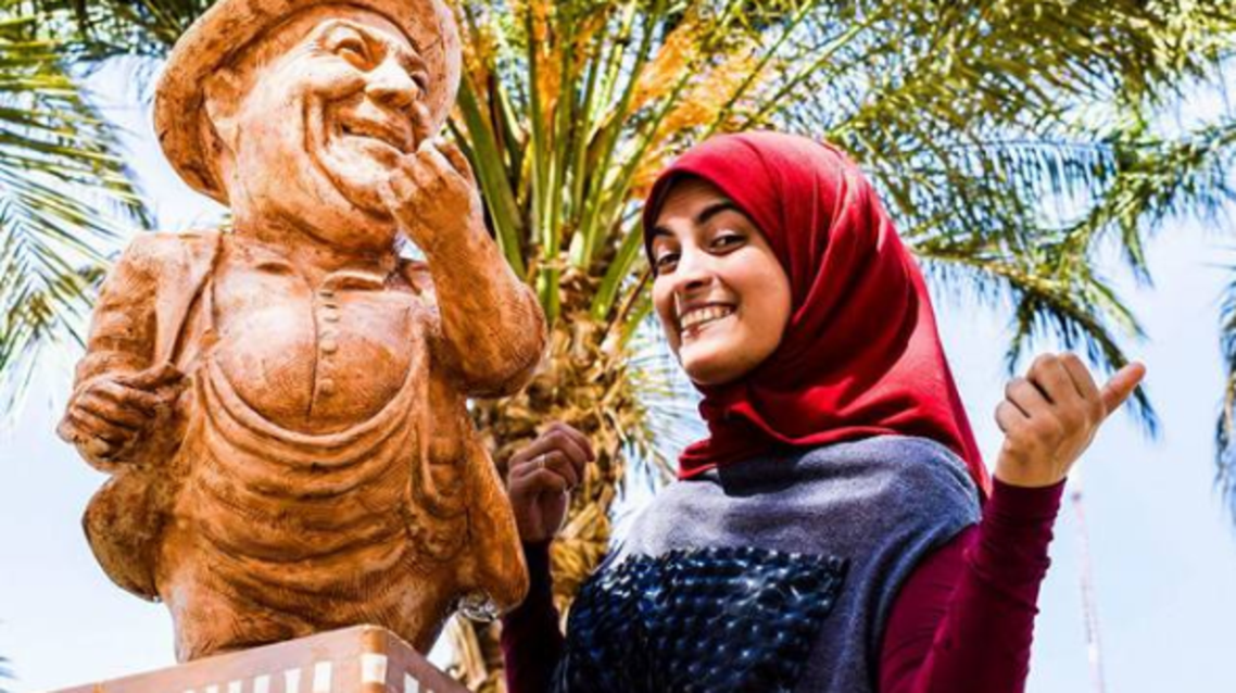 Mai Abdullah Mo Salah sculptor. (Facebook)