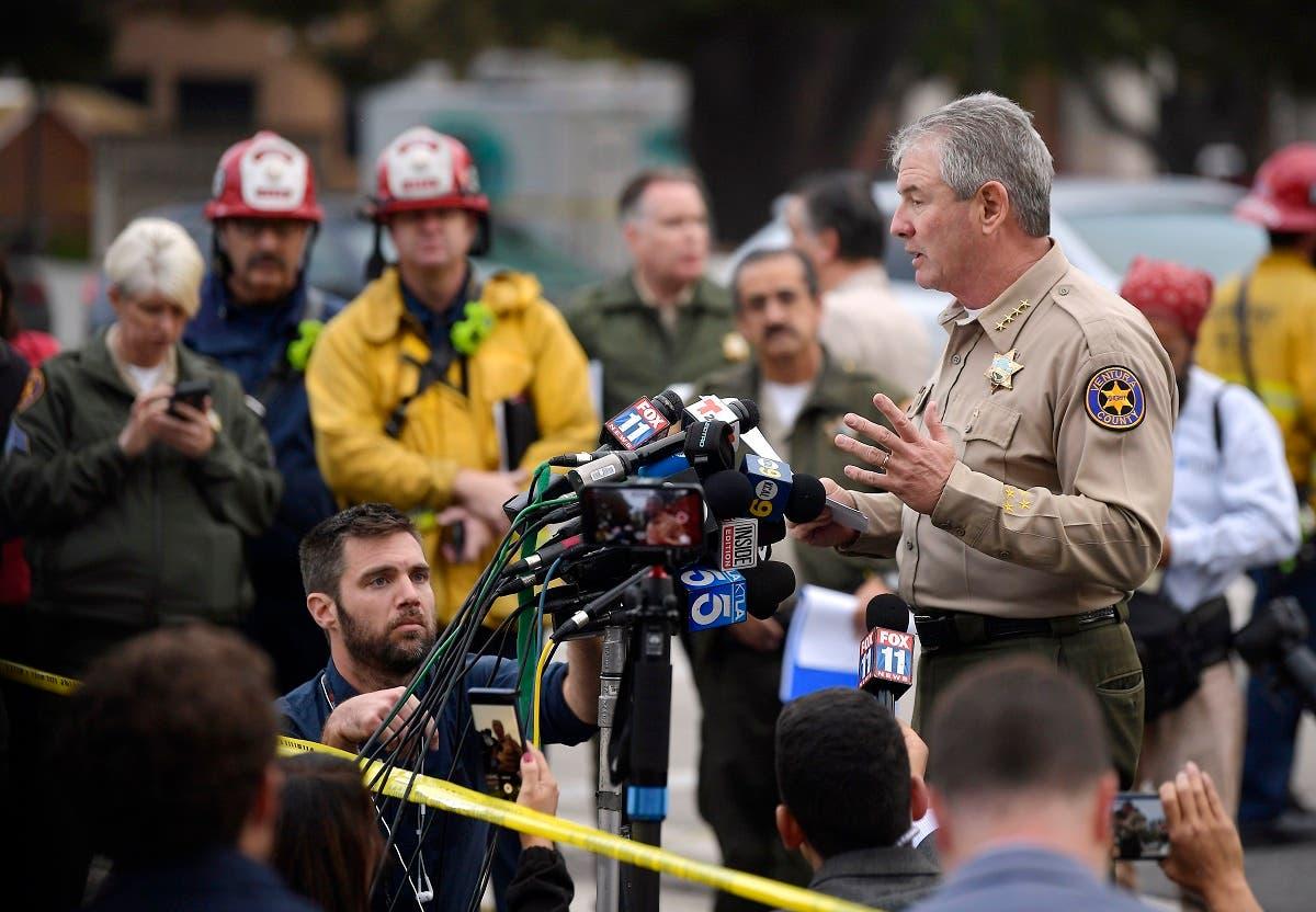 Ventura County Sheriff Geoff Dean speaks to reporters near the scene in Thousand Oaks, California. (AP)