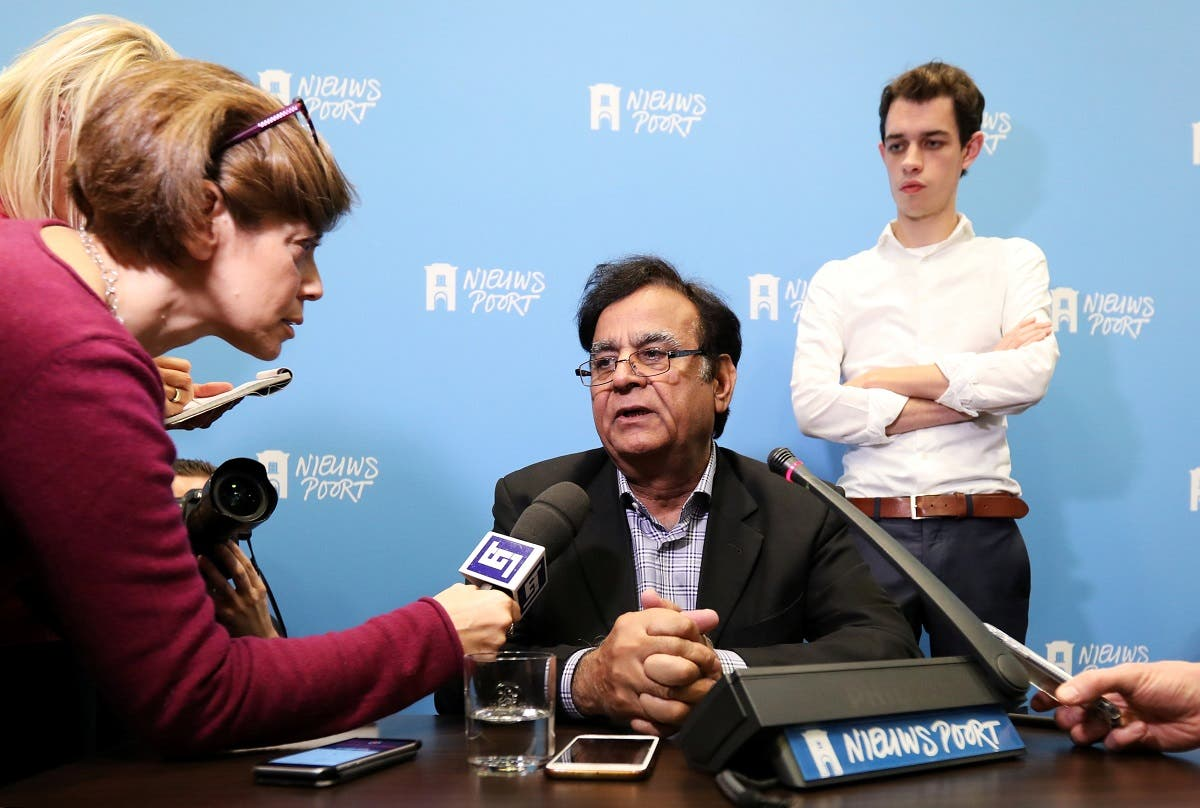 Saiful Mulook, lawyer of Christian woman Asia Bibi, addresses a news conference at the International Press Centre in The Hague. (Reuters)
