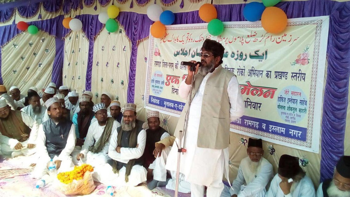 Haji Mumtaz Ali addressing anti-dowry campaign in India's Jharkhand state. (Supplied)