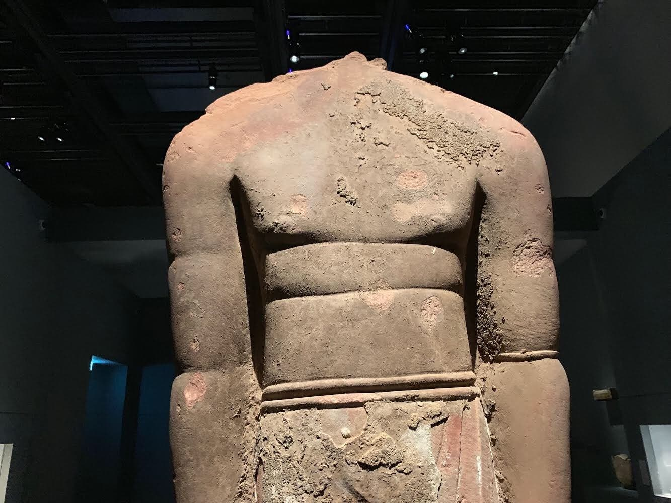 Ancient statues from Saudi Arabia in Louvre. (Supplied)