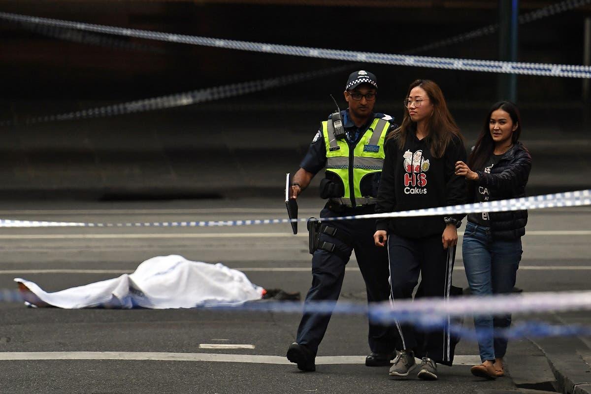 Melbourne stabbing. (AFP)