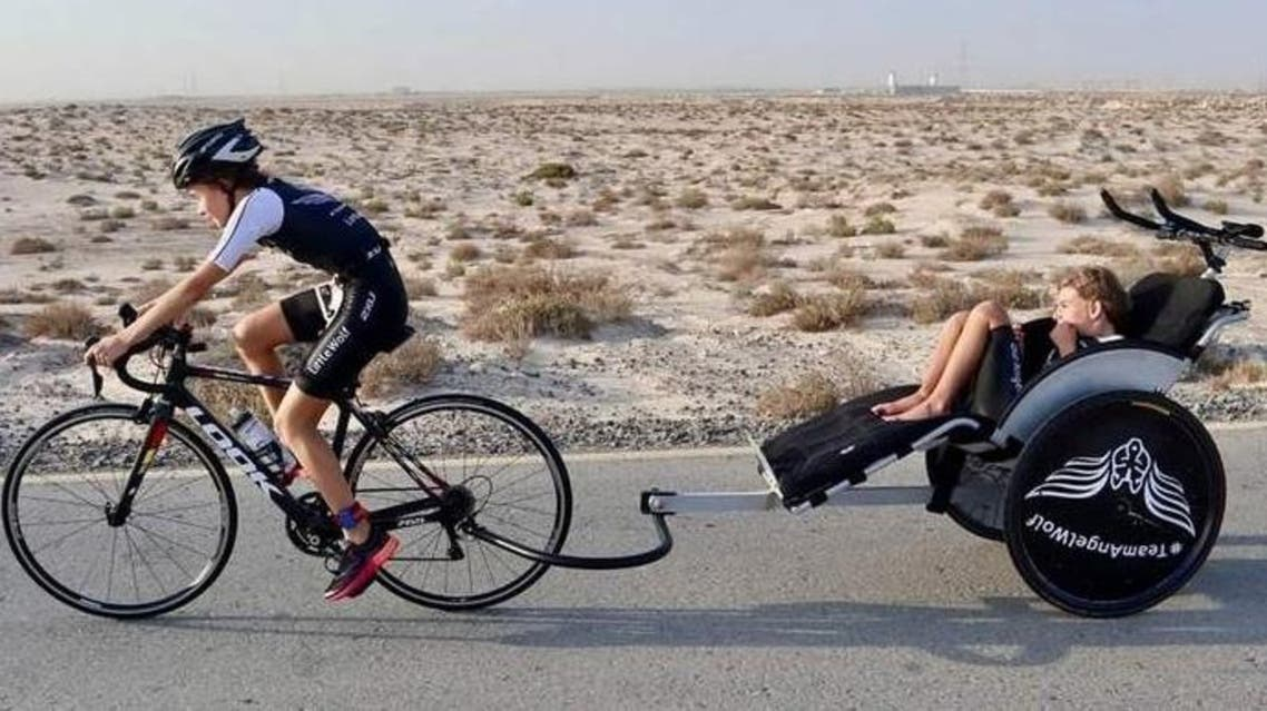 11-year-old girl completes Dubai triathlon with differently abled brother. (Khaleej Times)