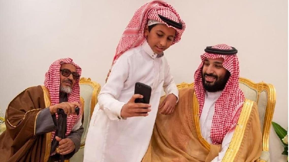 Saudi Crown Prince snaps selfie with young boy (supplied)